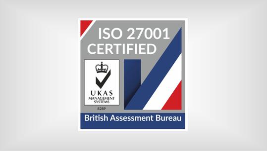 ISO 27001 UKAS 2020 credited
