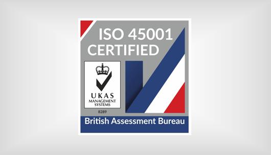 ISO 45001 UKAS 2020 certified