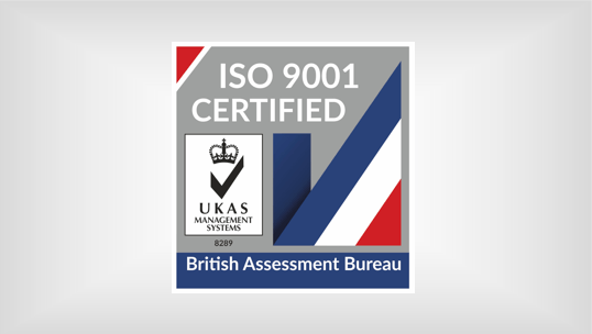 ISO UKAS 9001 2020 Certified